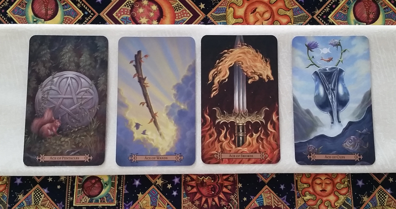 The Aces of the Modern SpellCaster's Tarot