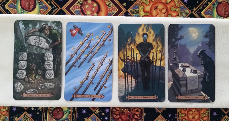 The Eights of the Modern SpellCaster's Tarot