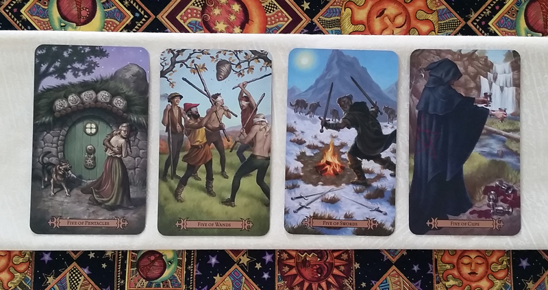 The Fives of the Modern SpellCaster's Tarot
