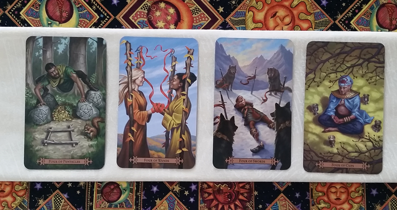 The Fours of the Modern SpellCaster's Tarot