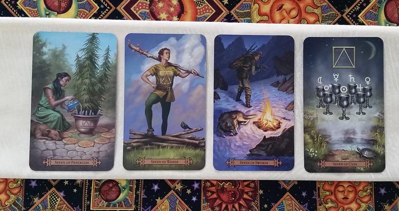 The Sevens of the Modern SpellCaster's Tarot