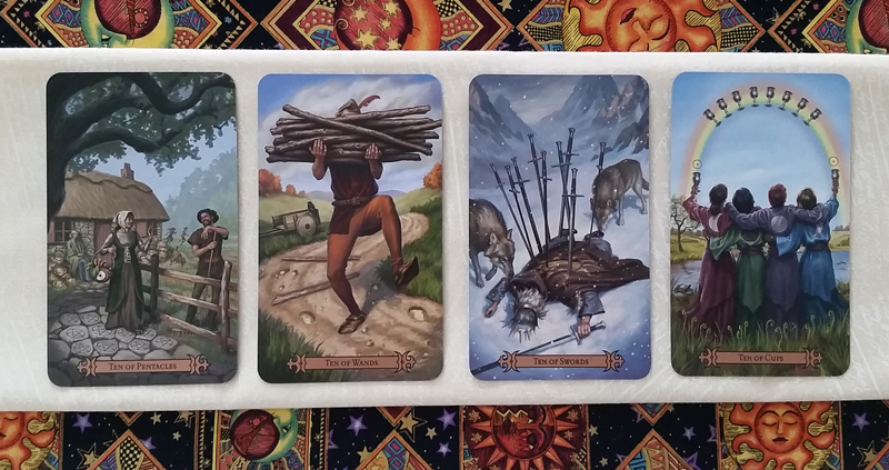 The Tens of the Modern SpellCaster's Tarot