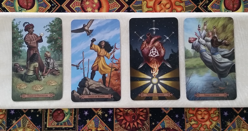 The Threes of the Modern SpellCaster's Tarot