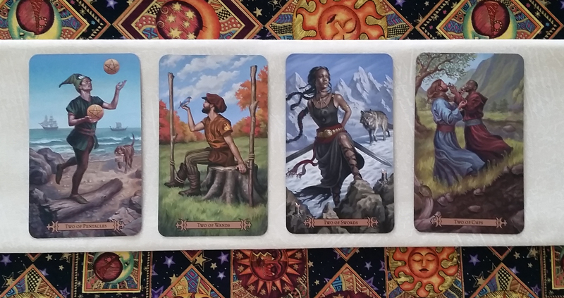 The Twos of the Modern SpellCaster's Tarot
